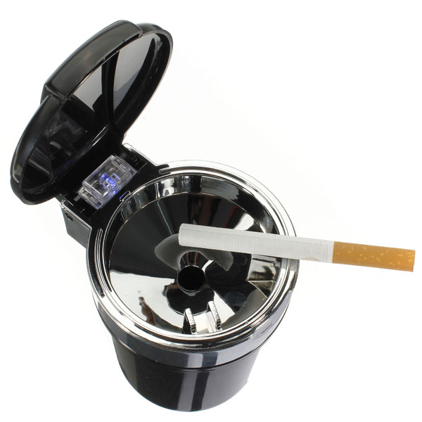 office car interior blue led light smokeless cigarette ashtray holder cup black lazada malaysia. Black Bedroom Furniture Sets. Home Design Ideas