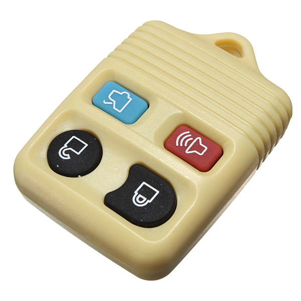 Rubber pad 4 button remote key shell fob case yellow color replacement for ford export