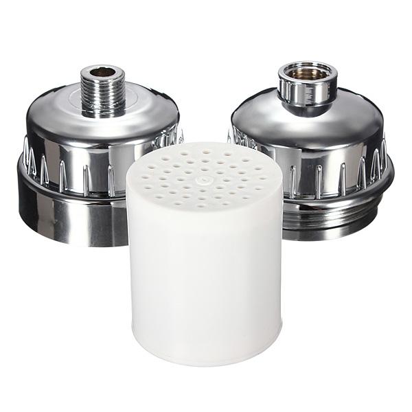 safe in line shower filter softener chlorine removal water purifier 4 c 60 c chrome lazada. Black Bedroom Furniture Sets. Home Design Ideas