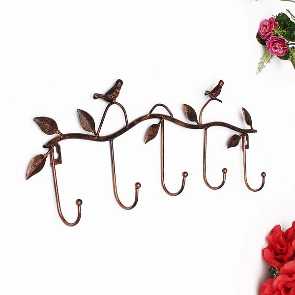 Iron Birds Leaves Hat Towel Coat Wall Decor Clothes