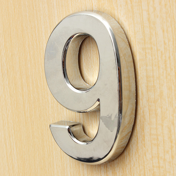 polished modern house door address adhesive number digits sticker plate sign 9 lazada ph. Black Bedroom Furniture Sets. Home Design Ideas