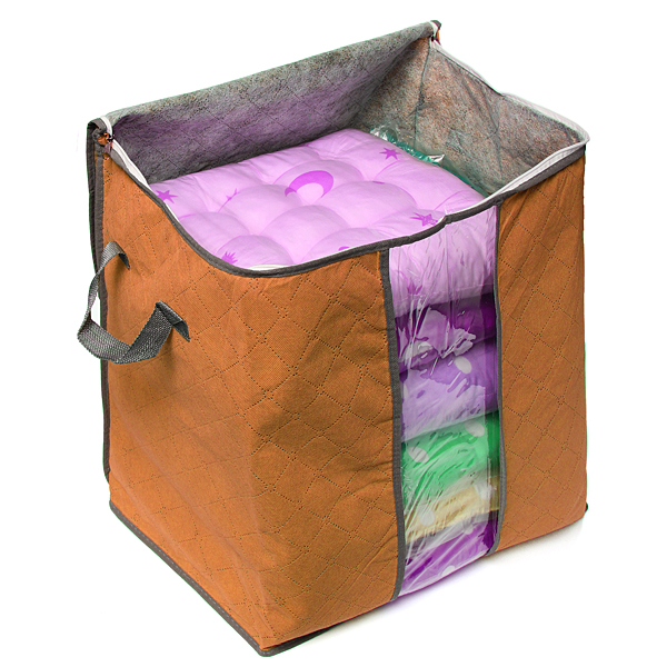 foldable clothes pillow blanket closet underbed storage
