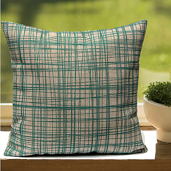 Vintage Flower Geometric Home Decor Linen Throw Pillow Case Sofa Cushion Cover