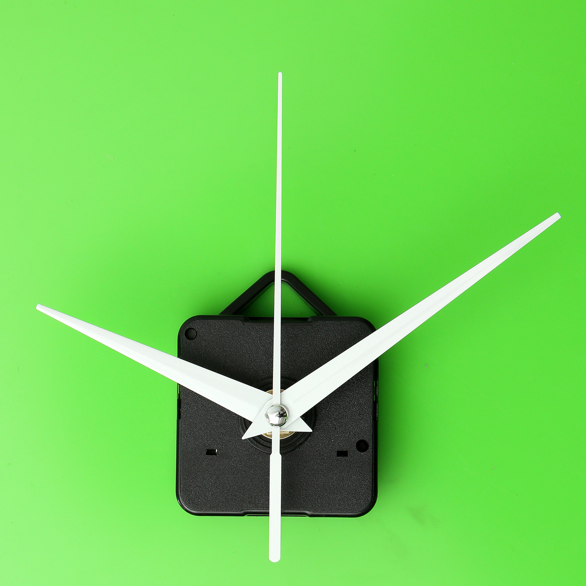 White Hands Diy Quartz Black Wall Clock Movement Mechanism
