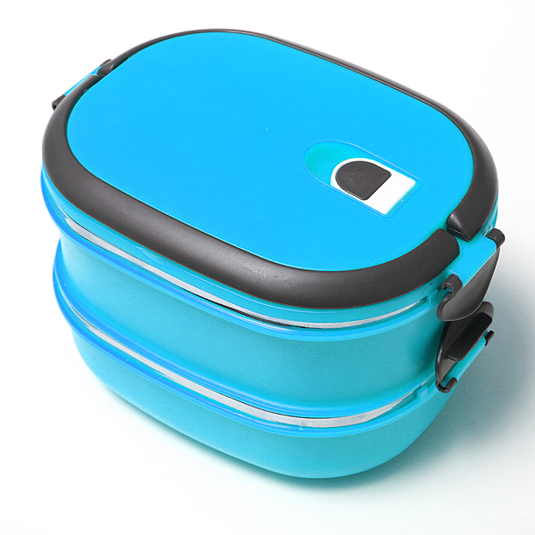 2 layers stainless steel lunch box picnic storage box insulated thermal blue lazada ph. Black Bedroom Furniture Sets. Home Design Ideas