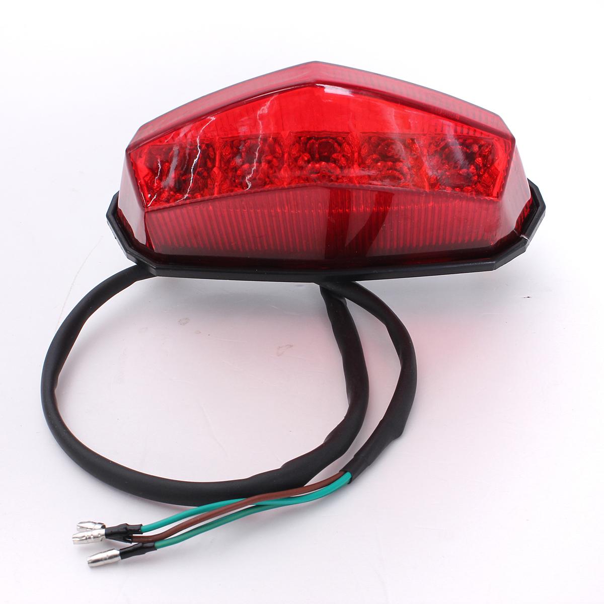 universal red led motorcycle motorbike rear tail brake stop light lamp ebay. Black Bedroom Furniture Sets. Home Design Ideas