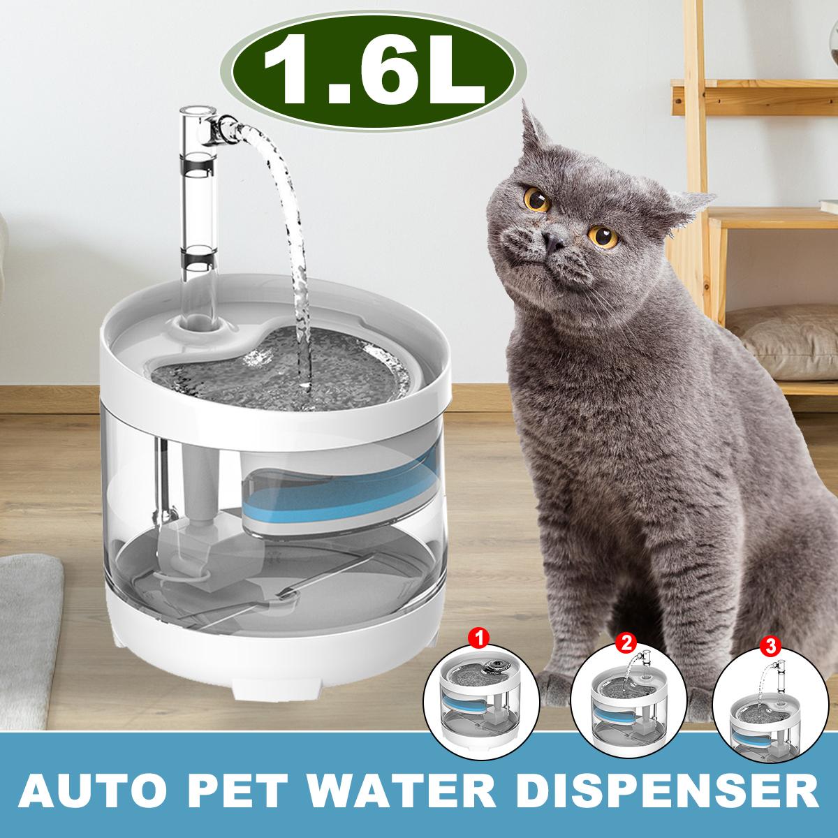 Đài Phun Nước Cho Mèo 1.6L, Đài Phun Nước Cho Thú Cưng, Cho Mèo Và Chó, Máy Rút Nước Phụ Kiện Cho Chó Bát Uống Nước Phụ Kiện Mèo