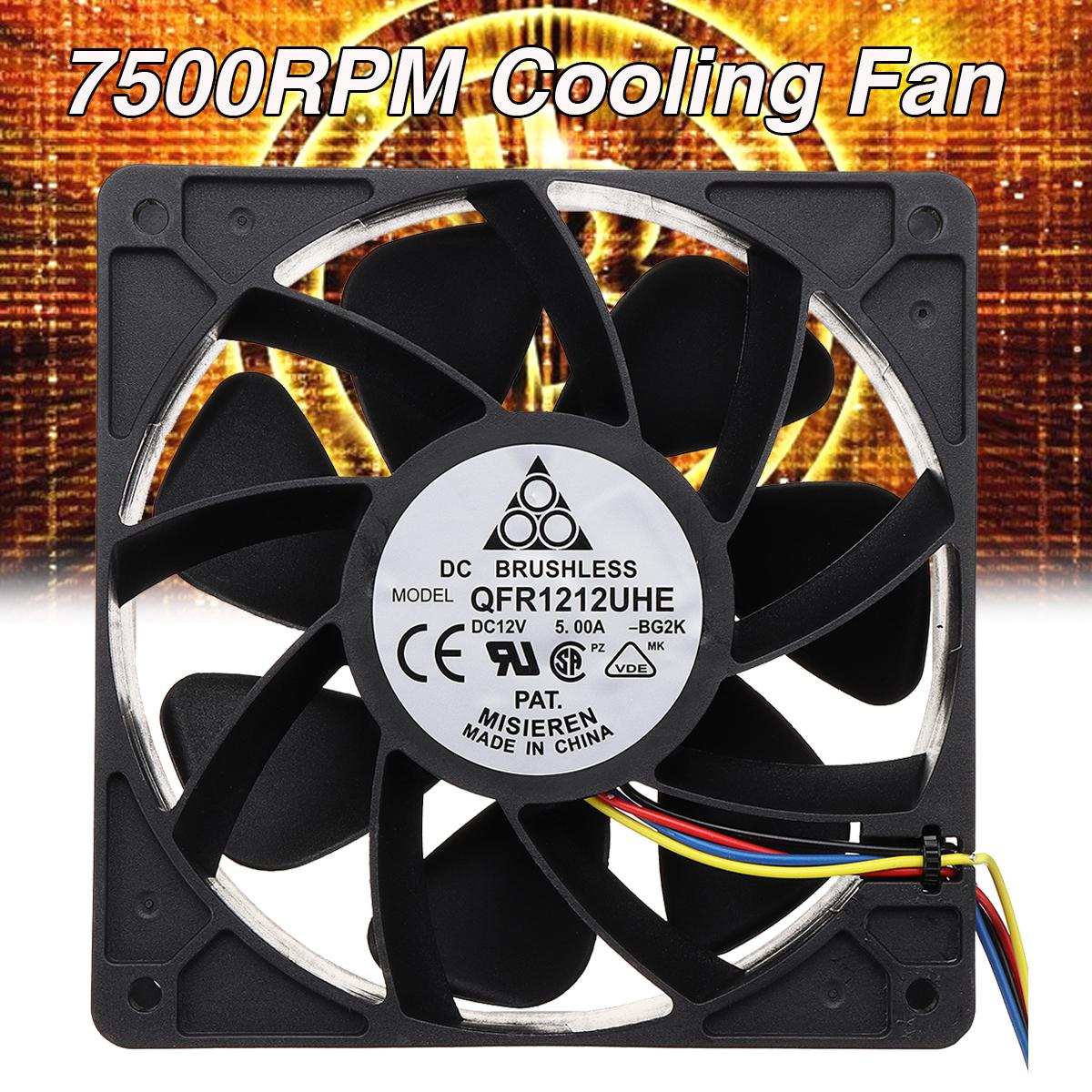 Bảng giá Bộ Làm Mát CPU Máy Tính 7500 Vòng/phút 12V Quạt Làm Mát Máy Vi Tính Không Chổi Than 4Pin DC, Quạt Làm Mát 120*38 Mm Cho S7 S9 Phong Vũ