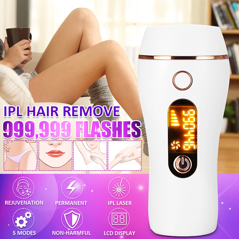 Buy 999,900 Flash IPL Laser Permanent Hair Removal Painless Epilator For Face Body Singapore