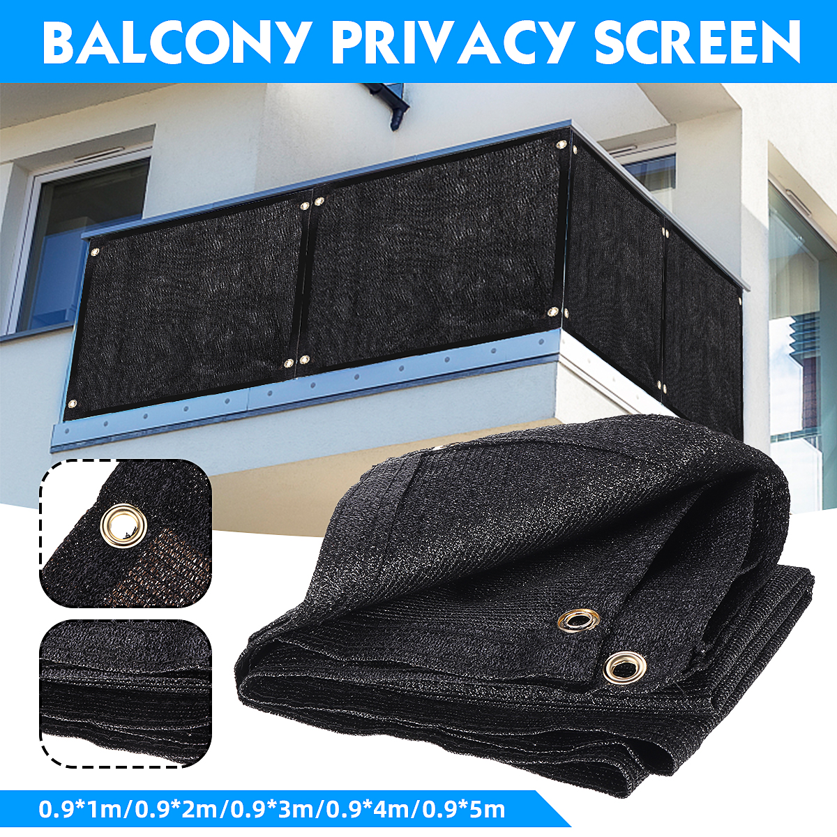 【Ready Stock】90cm Balcony Privacy Screen Gardening Sunshade Cover Summer Residence Fence