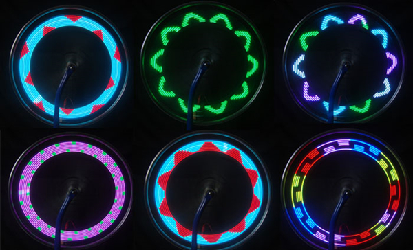 14 LED Car Auto Wheel Signal Tire Spoke Light 30 Change Modes