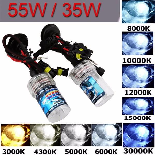 Pairs H11 35W 55W Car Xenon HID Replacement Bulbs