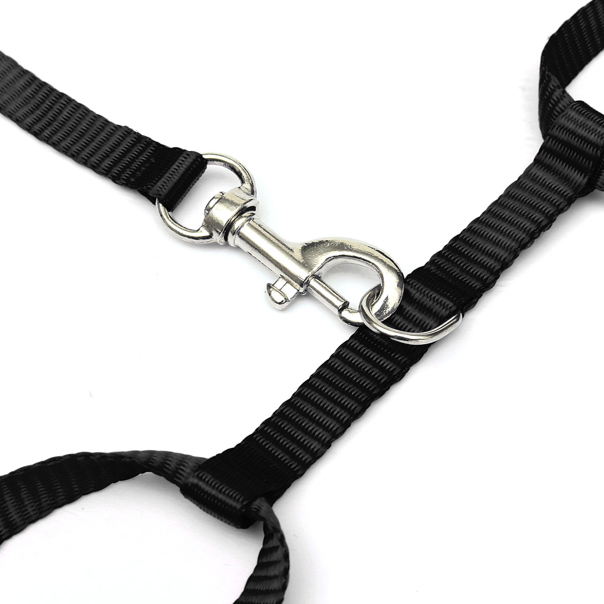Pet Cat Kitten Adjustable Harness Nylon Collar Belt Lead Leash