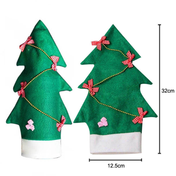 Christmas Wine Bottle Cover Christmas Xmas Clothes Tree Bottle Coat Bottle Decoration