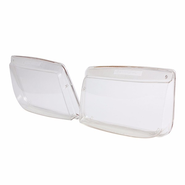 Pair Plastic Headlight Lenses Replacement fit for VW MK4 Jetta Bora 99-05