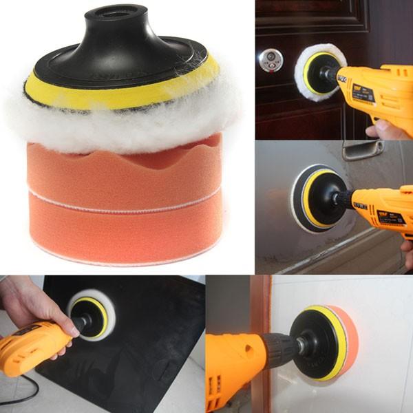 4 inch Gross Polish Polishing Buffer Pad Kit With Drill Adapter