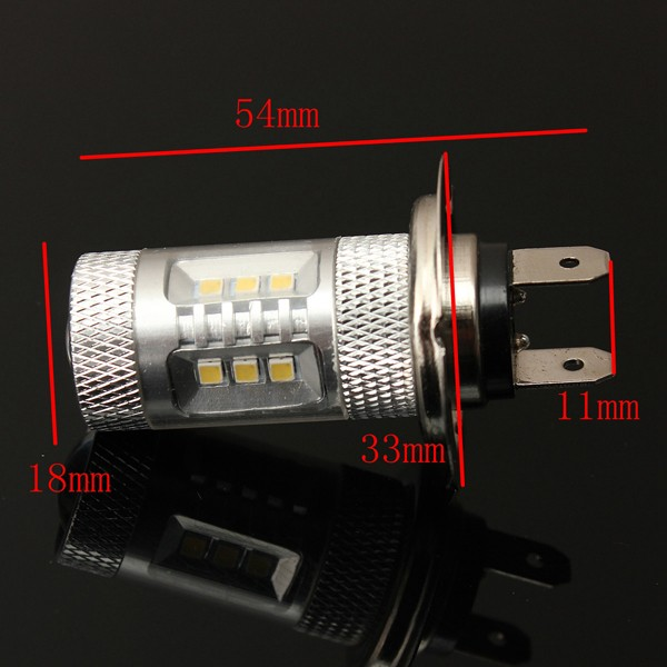 H7 15W LED Headlight Bulb Fog Lamp Daytime Running Driving Light