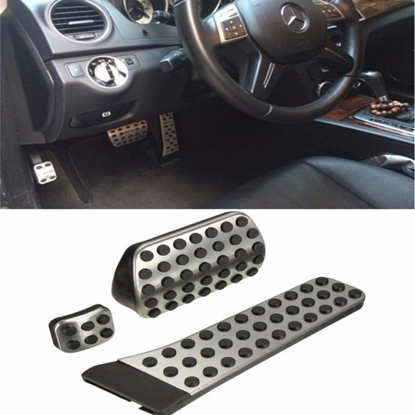 Accelerator Fuel Brake Foot Pedals Kit Drill free For Mercedes Benz C E S Class