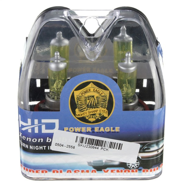A Pair of H16 HID Xenon Light Bulbs Lamps DC12V Yellow 3000K-3500K