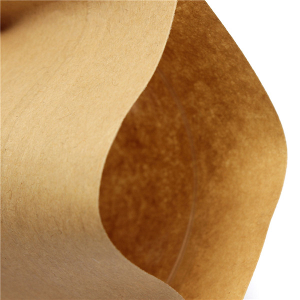 Kraft Paper Bags Packaging Stand Up With Zipper for Food Storage 120 x 200mm