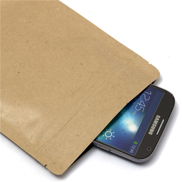 Kraft Paper Bags Aluminum Foil Packaging Stand Up With Zipper for Food Storage 200x300mm