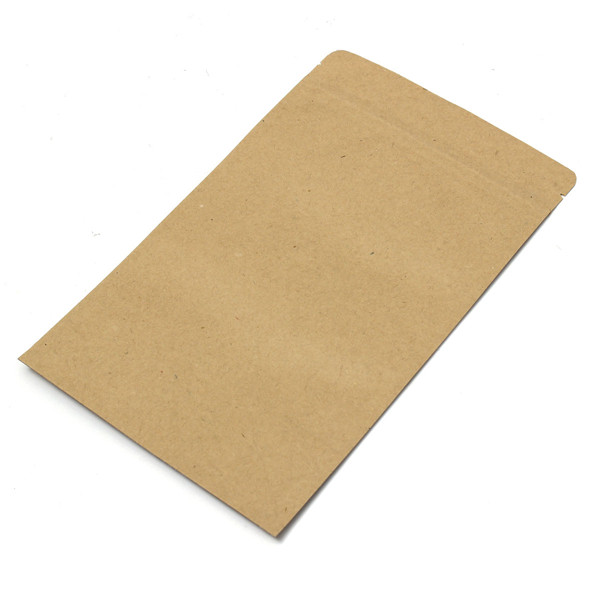 Kraft Paper Bags Aluminum Foil Packaging Stand Up With Zipper for Food Storage 180x300mm