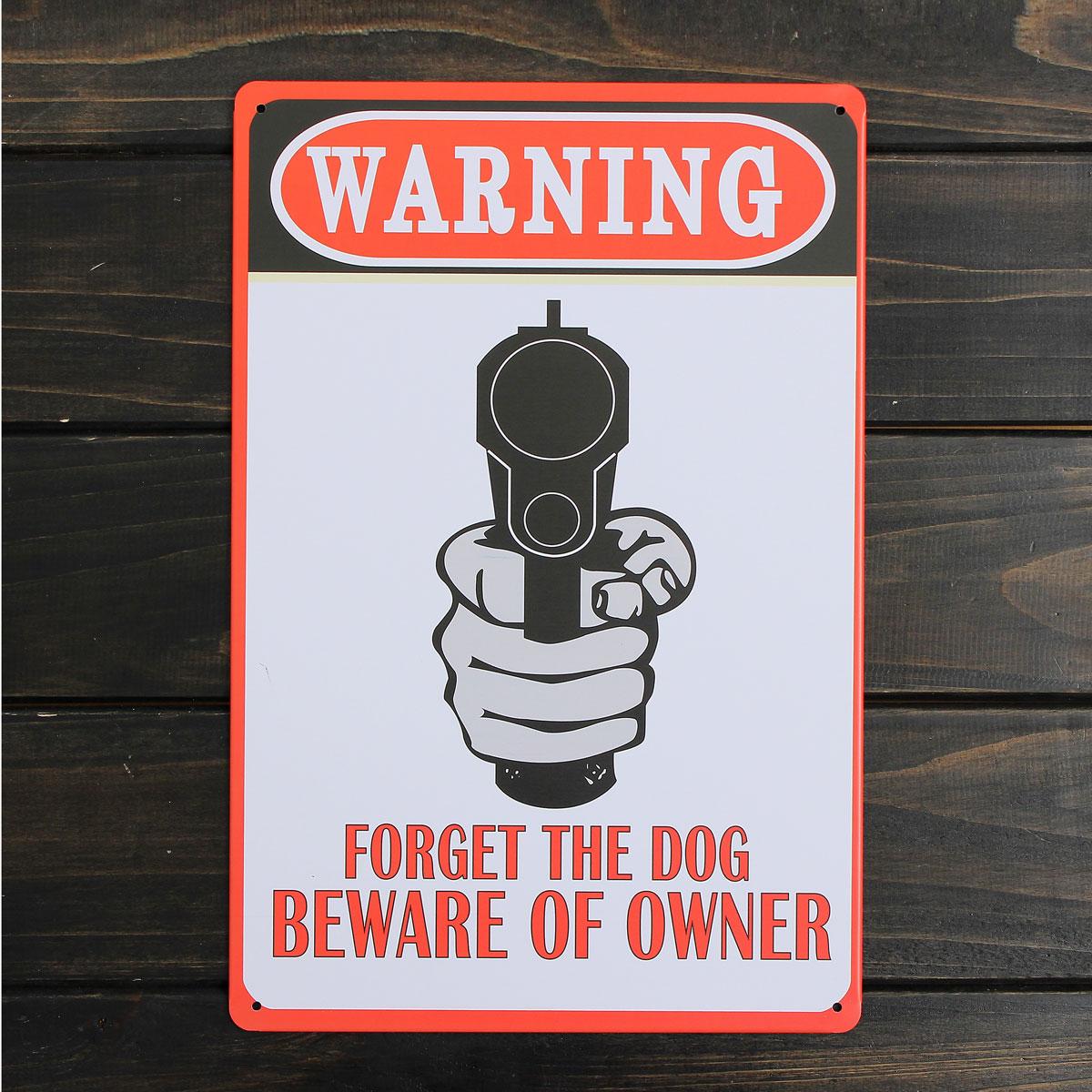 Warning Sheet Metal Drawing Metal Painting Tin Shop Pub Wall Tavern Poster Sign
