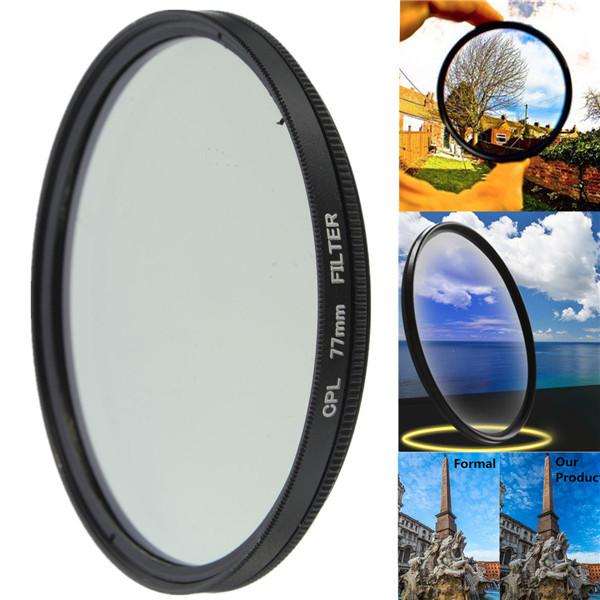 52mm-77mm Phot Digital Slim CPL Circular Polarizer Polarizing Lens Filter CPL Polarizer for Canon Nikon Sony