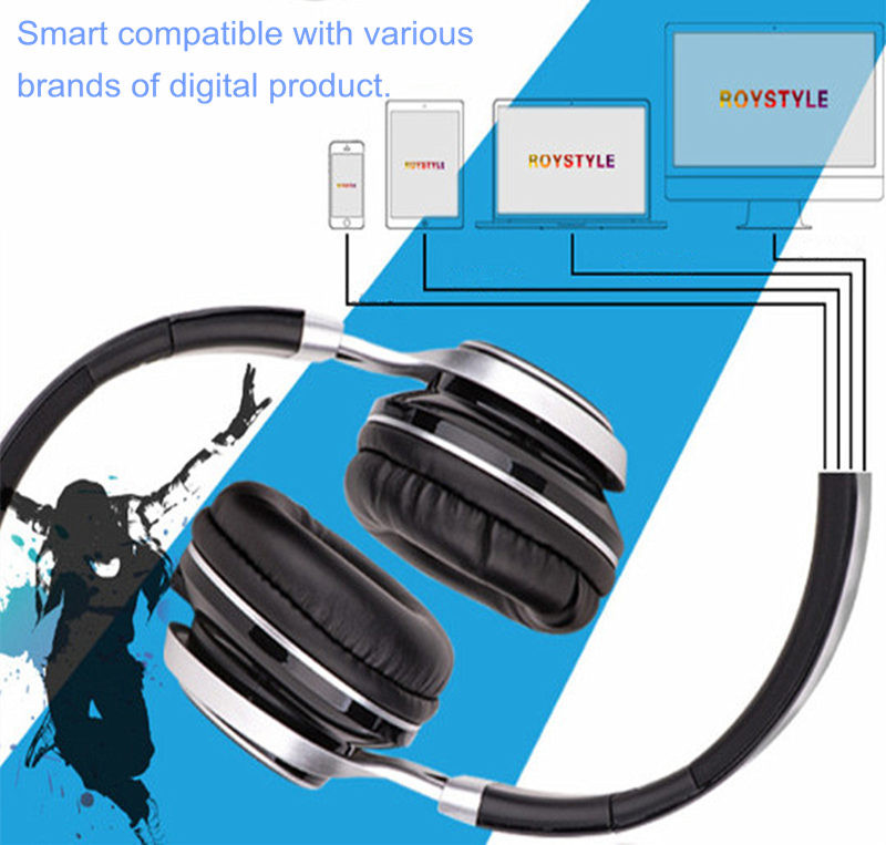 Fold Stereo Surround Mic 3.5mm Headbrand Earphone Headset for Samsung HTC LG
