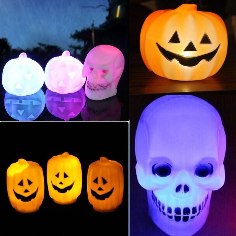 Halloween LED Pumpking Skull Lamp Light Halloween Party Decoration