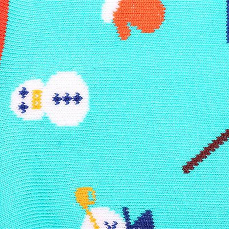Women Girl Christmas Series Snowman Cotton Cute Casual Soft Socks Hosiery