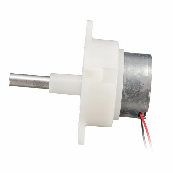 2pcs 3-12V 16RPM Worm Motor Reduction Gear Motor Electric Gear Box Reduction Motor