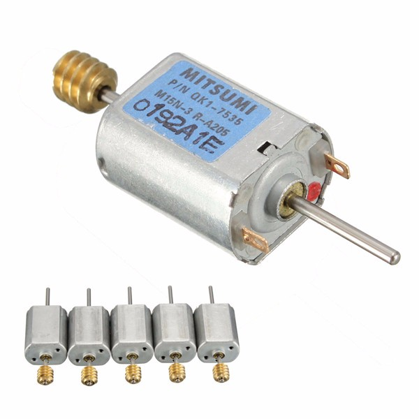 5pcs 12-24V 13500RPM 1.5mm Dia Shaft Magnetic Electric Motor Mini DC Worm Motor