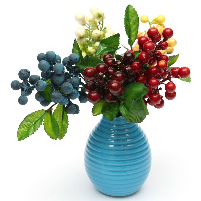 Artificial Floral Berry Flowers Leaf Simulation Flowers Home Table Craft Decoration