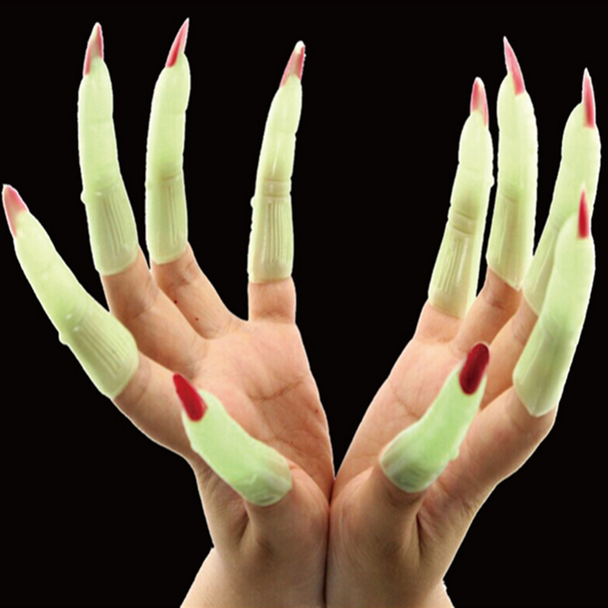 Halloween Luminous Vampire Nail Finger Costume Party Prop