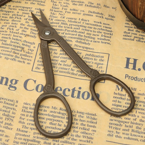 Vintage Titanium Sewing Embroidery Shear Scissors DIY Cutter Fabric Household