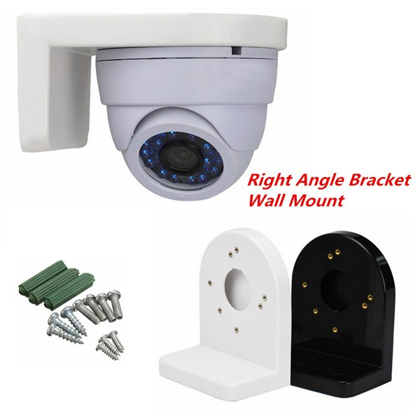 Plastic L Type Right Angle Bracket Wall Mount for CCTV Dome IP Security Camera