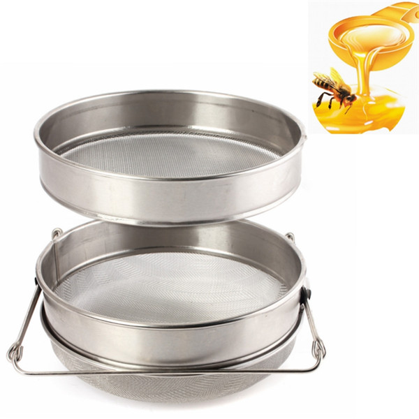 Double Sieve Honey Strainer Stainless Steel Filter Screen Beekeeping Equipment Filter
