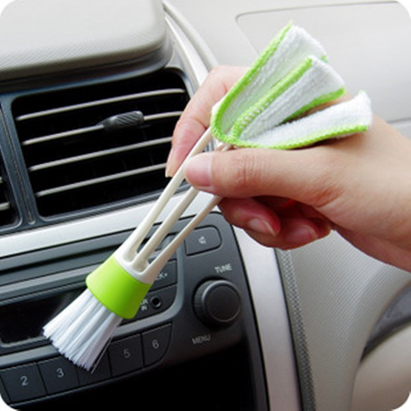 Double Head Car Airbrush Air Condition Louver Instrument Panel Cleaning Tool