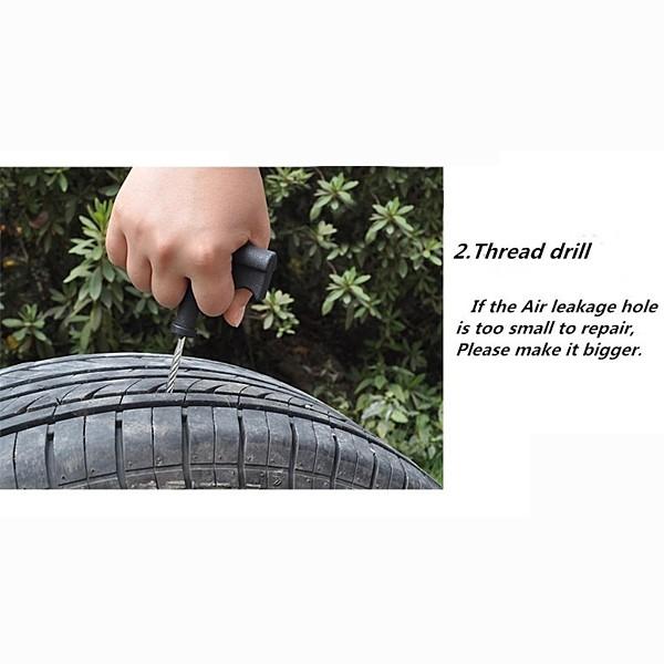 Auto Repair Tyre Tire Tools for Car Bike Motorcycle Puncture Tubeless Repair