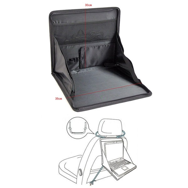 Car Laptop Desk Car Rear Seat Computer Multifunctional Oxford Cloth Folding Holder Bag