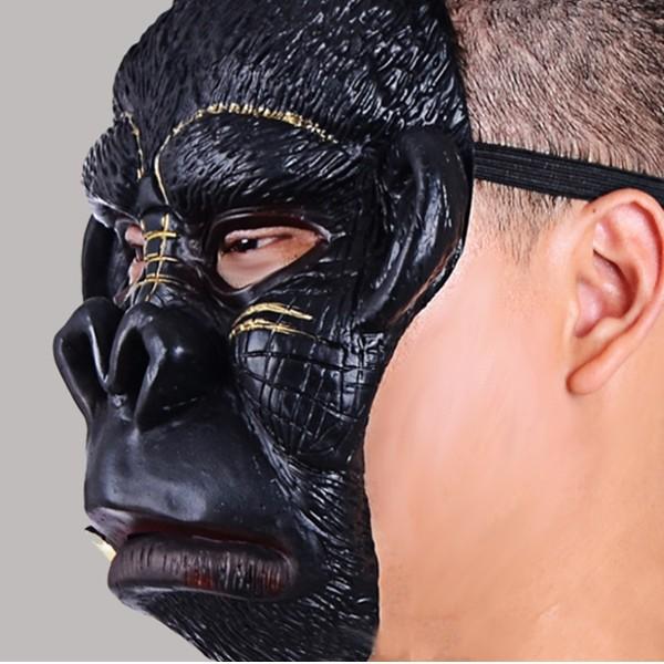 Hallowmas Party Mask Chimpanzee Animal Role Latex Halloween Mask