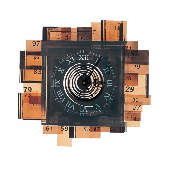 PAG STICKER 3D Clock Wall Decals Wooden Blocks Wall Sticker Home Wall Decor Gift