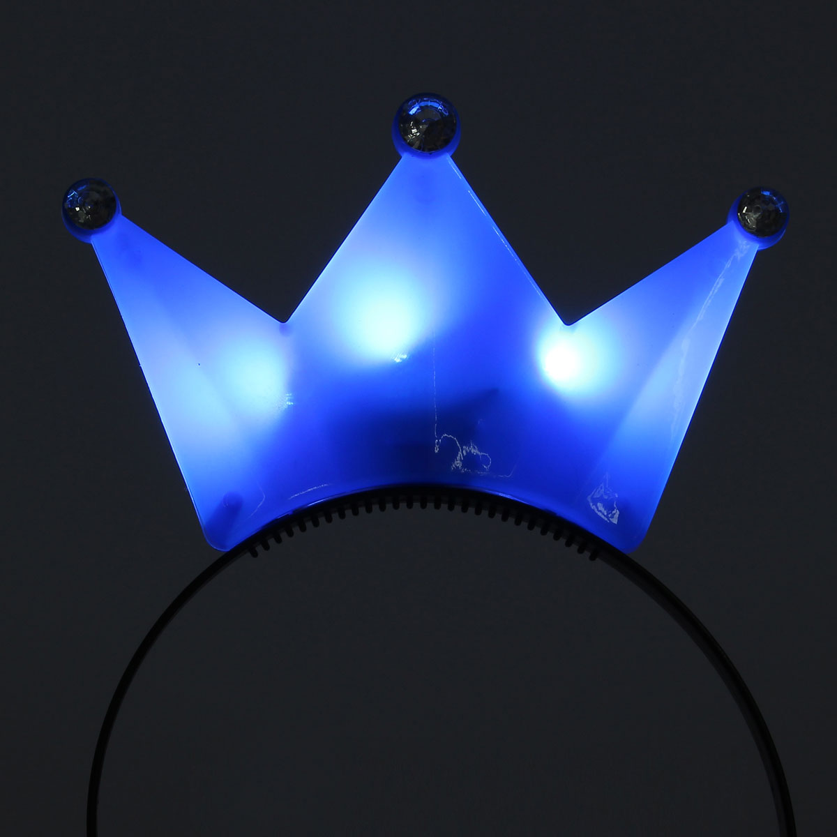 1PC Light Up Crown Headbrand Polka Dot Blinking LED Flashing For Birthday Party