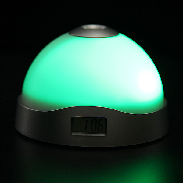 Color Change Alarm Clock Time Projection LED Clock Flashlight Snooze Alarm Clock