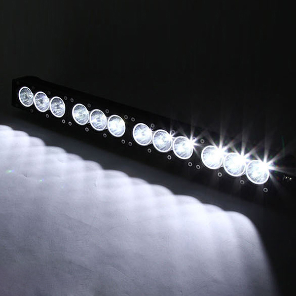 60W Car Led Flood Spotlight Car Roof Light Working Single Strip Light