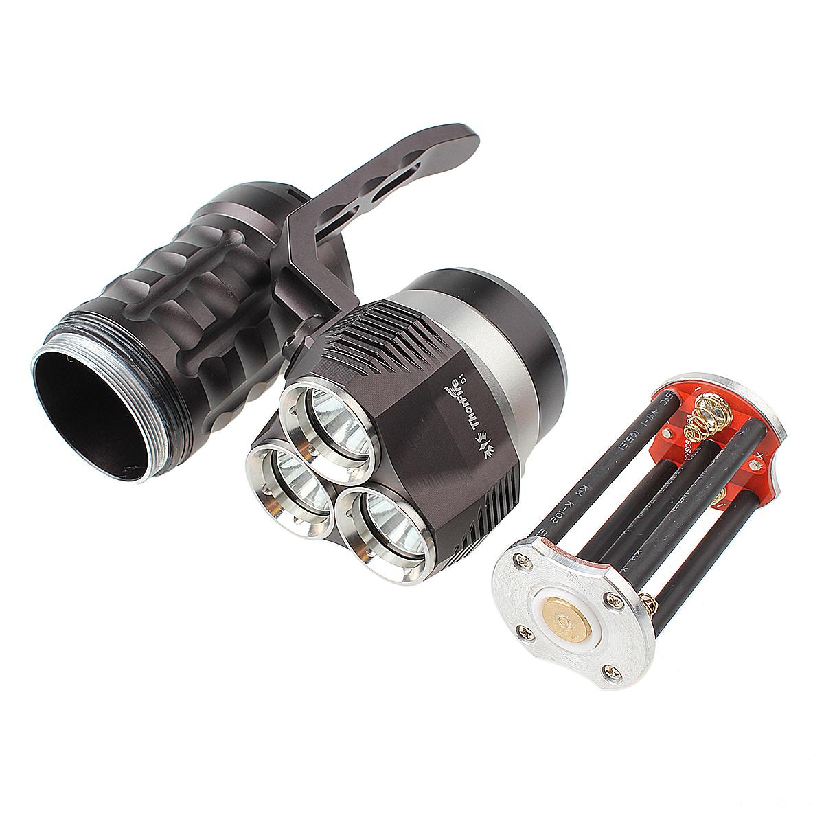 ThorFire S1 3x L2 LED Diving Flashlight 3 modes Searchlight