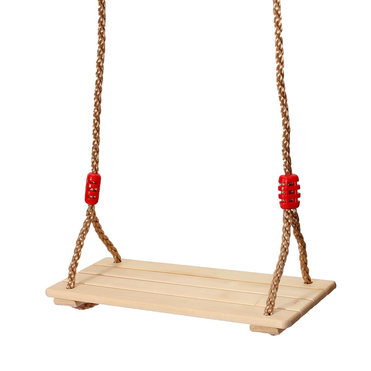 Comment Fixer Une Balançoire À Une Branche D Arbre tempsa balançoire siège de bois bouleau jouet jeux plein air