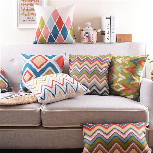 housse coussin taie oreiller canap ond maison lit sofa pillow ccase d co q3135 achat vente. Black Bedroom Furniture Sets. Home Design Ideas