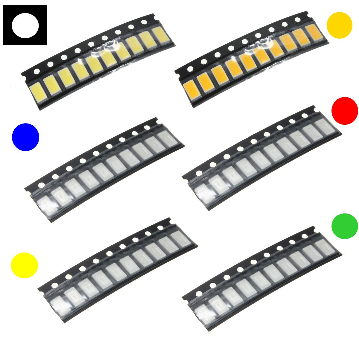 10 pcs 0603 Colorful SMD SMT LED Light Lamp Beads For Strip Lights